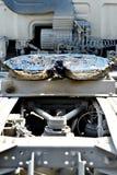 Accoppiamento del camion della quinta ruota unto immagini stock libere da diritti