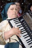 Accordéoniste portugais de folklore images libres de droits