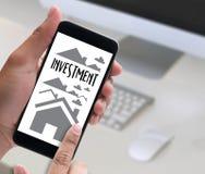 Accord d'achat résidentiel de prêt d'investissement de propriété à Livin Photos stock