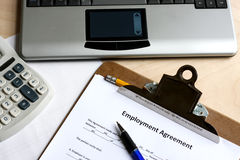 Accord d'emploi Image stock