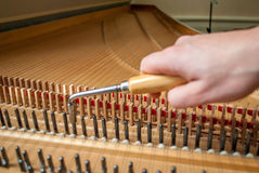 Accord de clavecin images stock