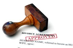 Accord de divorce Photographie stock
