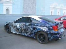 Accord de l'AR de ¡ de Ð Peindre à l'aérosol des véhicules à moteur Toyota Celica photo libre de droits