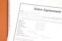 Accord de ventes Image libre de droits