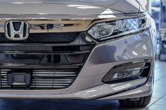 Accord front bumper with logo stock photo