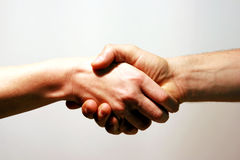 Accord Handshake. Man and woman handshake. Accord, Trade agreement. Business deal Stock Photography