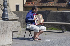 Accordeon-Spieler Stockfotos