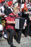 Accordeon-Spieler Stockbilder