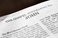 accorder l'evangile John à image libre de droits
