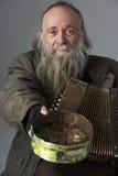 accordian busking的人前辈 免版税库存照片
