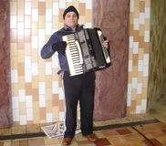 Accordian player Royalty Free Stock Photography