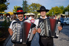 Accordian players Royalty Free Stock Photo