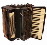 Accordian on white. Old style accordion on white Royalty Free Stock Image