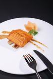 According grilled cod fish row Stock Images