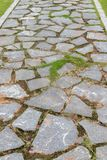 Stepping stone on water surface-Garden Road. According to the nature and function, garden roads can be divided into trunk roads, secondary roads, trails and Ting Royalty Free Stock Photo