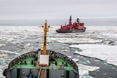 According to the Northern Sea Route for the atomic icebreaker Royalty Free Stock Image