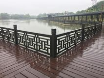 Covered bridge -Jiangnan garden royalty free stock photography