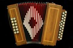 Accordion. Instrument maker Stock Photo