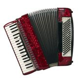 Accordion. Sliced photographies different music instrument stock image