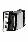 Accordion. Beautiful according in isolate background Royalty Free Stock Photo
