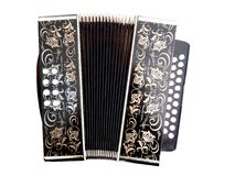 Accordion. An old german diatonic accordion royalty free stock photo