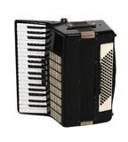 Accordion. Black accordion to the white stock photo