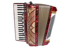 Accordion. It is isolated on white stock photography