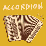 Accordion vector vector illustration