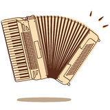 Accordion vector. Illustrations of an accordion isolated on white background + vector eps file Royalty Free Stock Photo