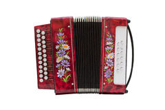 Accordion. Image of accordion under the white background royalty free stock photography