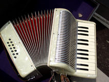Accordion. A traditional folk music instrument stock images