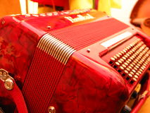 Accordion. Closeup of an accordion royalty free stock photos