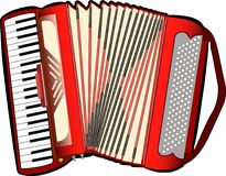 Accordion. A digital illustration of an accordion Royalty Free Stock Photo