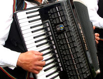 Accordion. Traditional musical instrument, present at any festival in most eastern europe countries stock images