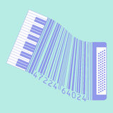 This accordion is also a UPC code for Print or Web Royalty Free Stock Image
