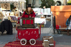 Accordion, antique,market, roller,france,nice Royalty Free Stock Image
