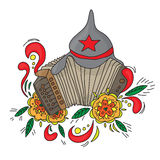 Accordion. Bayan  on white background Royalty Free Stock Images