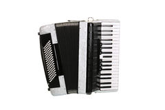 Accordion. Black accordion isolated over white background royalty free stock image