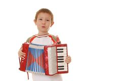 Accordion Boy 27 Royalty Free Stock Images
