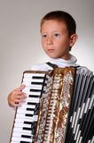 Accordion Boy Stock Image