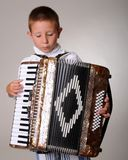 Accordion Boy Stock Photography