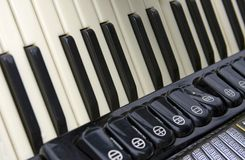 Accordion close up Royalty Free Stock Photography