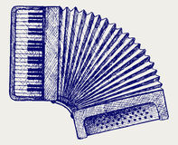 Accordion. Doodle style Royalty Free Stock Photo