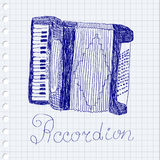 Accordion drawing Stock Images