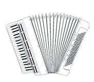 Accordion drawing Stock Photography