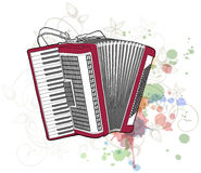 Accordion & floral calligraphy ornament Royalty Free Stock Photos