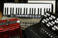 Accordion group Royalty Free Stock Images