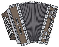 Accordion. Hand drawing of a vintage accordion Stock Images