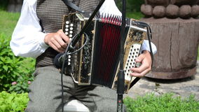 Accordion hand folk music stock video footage