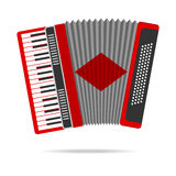 Accordion. Icon. Flat design, illustration royalty free illustration